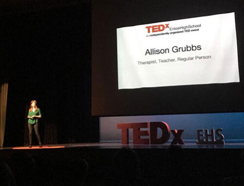 Allison Grubbs discusses how to utilize your own inner resources at local TEDx event
